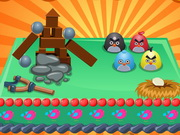 Play Angry Bird Themed Cake