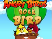 怒っている鳥ロック野鳥