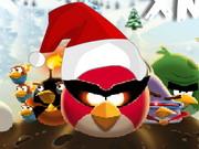 怒っている鳥スペースクリスマス