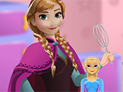 Play Anna cooking Frozen Cake