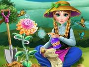 アンナは花を育てます