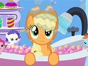 Play Applejack Bubble Bath