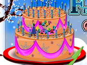 Play Awesome Frozen Birthday Cake