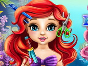 Play Baby Ariel Real Haircuts