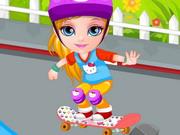 ベビーバービースケートボード事故
