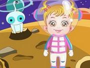 赤ちゃんは、宇宙飛行士になって