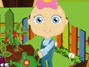Play Baby Bunny gardening