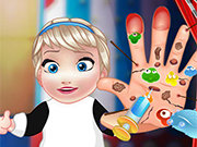 Play Baby Elsa Hand Doctor