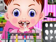 歯医者で赤ちゃんエマ