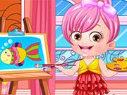Play Baby Hazel Artist Dressup
