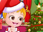 赤ちゃんヘーゼルクリスマスドレスアップ