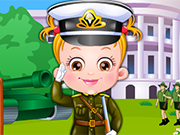 Play Baby Hazel Defense Officer Dressup
