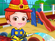 Play Baby Hazel Firefighter Dressup