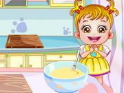 赤ちゃんはデザートを作ります