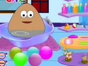 Play Baby Pou Bathing