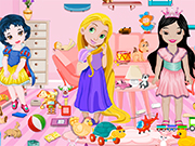 Play Baby Princesses Toys Room Cleaning