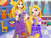 Play Baby Rapunzel and Mom Shopping