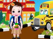 学校に赤ちゃんソフィア戻ります