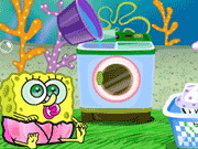Play Baby SpongeBob Washing Clothes