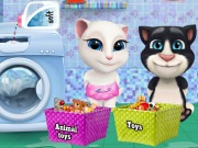 Play Baby Tom And Angela Washing Toys