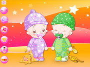Play Baby Twins Dress Up