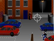 裏庭の銃撃戦