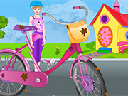 Play Barbie Bicycle Wash And Repair