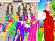 Play Barbie Bridesmaid Dress Up