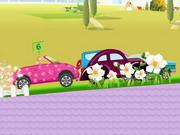 Play Barbie Car Racing