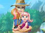 Play Barbie Family Going To Camping