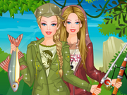 Play Barbie Fishing Princess