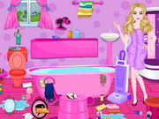 Play Barbie Messy Bathroom Cleaning
