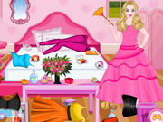 Play Barbie Princess Room Cleaning
