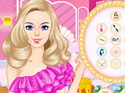 Play Barbie's Glittery Makeup