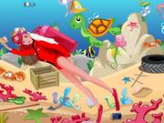 Play Barbie Underwater Cleaning