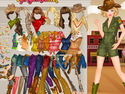 Play Barbie Western Dressup
