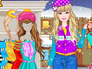 Play Barbie Winter Shopping
