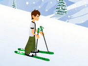 Play Ben 10 Downhill Skiing