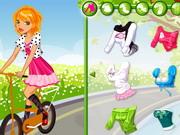 学校に自転車