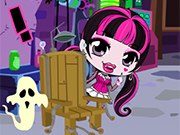 Play Chibi Draculaura Halloween Slacking
