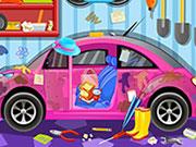 Play Clean My Pink Car 3