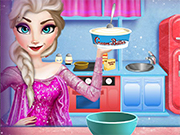Play Elsa Cooking Christmas Cake