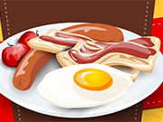 Play Cooking Eggs With Bacon