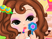 Play Curly Hair Doll Makeup
