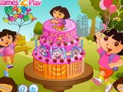 ドラ誕生日ケーキの装飾