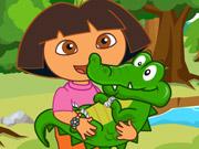 Play Dora Care Baby Crocodile