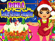 Play Dora Cooking Christmas Cake
