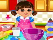 Play Dora make Cake Love
