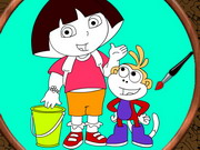 Play Dora Online Coloring