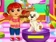 Play Dora Puppy Caring